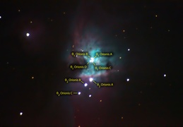 Orion Nebula - Core Details & Trapezium - Common Names